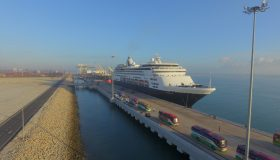 Cruise Ship berthed at NDWT Berth 1B